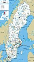 svédország autó térkép